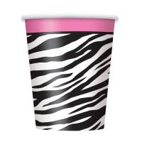 Pappbecher mit Zebra-Muster
