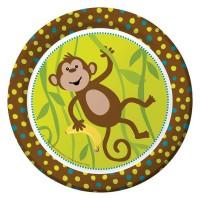 Pappteller mit Affen
