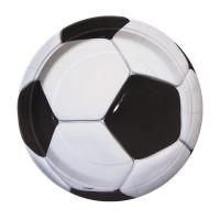 Pappteller im Fußball-Design