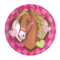 Pappteller mit Pferde-Motiv