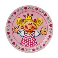 Party-Pappteller mit kleiner Prinzessin