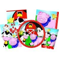 Kinderparty-Zubehör mit Bauernhof-Tieren