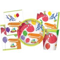 Kinderparty-Zubehör-Set mit kleinen Dinos