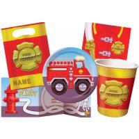 Kinderparty-Set mit Feuerwehr-Motiv