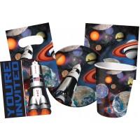 Kinderparty-Set mit Weltraum-Motiv