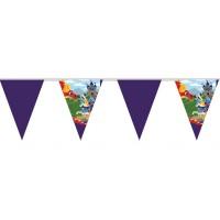 Kindergeburtstag-Wimpelkette mit Ritter-Emblem