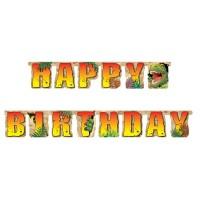 Dino-Party-Buchstabenkette mit Dinosauriern