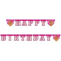 Happy Birthday Girlande mit Pferde-Motiv