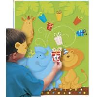 Kinder-Partyspiel mit Dschungel-Tieren