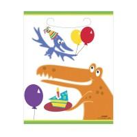 Partytütchen mit Dino-Motiv