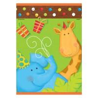 Partytütchen mit Giraffe und Elefant
