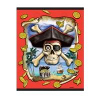 Piratenparty-Partytütchen mit Totenkopf
