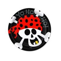 Pappteller Ahoy mit Totenkopf-Motiv