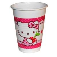 Plastikbecher mit Hello Kitty-Motiv