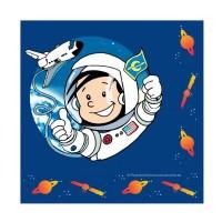 Geburtstags-Servietten mit Astronauten-Motiv