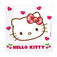 Servietten mit Hello Kitty-Motiv