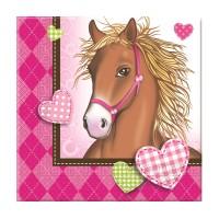Servietten mit Pferde-Motiv
