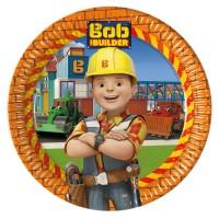 Pappteller mit Bob der Baumeister