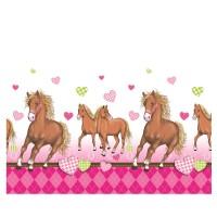 Tischdecke mit Pferde-Motiv