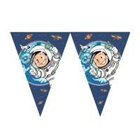 Kinder-Wimpelkette mit kleinem Astronauten
