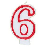 Zahl 6 als Geburtstagskerze