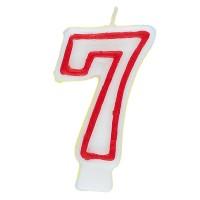 Zahl 7 als Geburtstagskerze