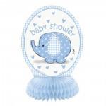 Tischaufsteller blauer Babyphant