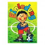 Einladungskarten mit kleinem Fußballspieler