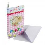 Kindergeburtstag-Einladungskarten mit Lillebi-Motiv