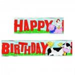 Party-Banner mit Bauernhof-Tieren