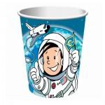 Geburtstagsbecher mit kleinem Astronauten