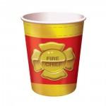 Kindergeburtstag-Becher mit Feuerwehr-Emblem