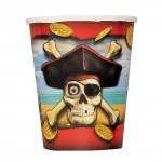 Piratenparty-Pappbecher mit Totenkopf