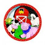 Pappteller mit Bauernhof-Tieren