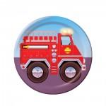 Kinder-Partyteller mit Feuerwehrauto
