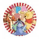 Kindergeburtstag-Partyteller mit Winnie Puuh