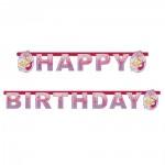 Buchstaben-Girlande mit Barbie Pink Shoes
