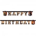 Happy Birthday Girlande mit Star Wars Motiv