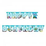 Happy Birthday Girlande mit Meerestieren