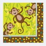 Servietten mit kleinen Affen