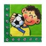 Servietten mit kleinem Fußballspieler