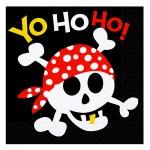 Servietten Ahoy mit Totenkopf-Motiv