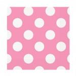 Rosafarbene Servietten mit weißen Punkten