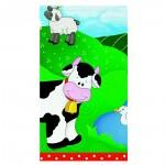 Tischdecke mit Bauernhof-Tieren