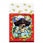 Piratenparty-Tischdecke mit Totenkopf