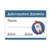 Astronauten-Ausweis für Kinder