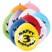 Zahlenballons für den dritten Kindergeburtstag
