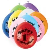 Zahlen-Luftballons für den ersten Geburtstag