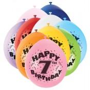 Zahlen-Luftballons für den siebten Geburtstag