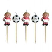 Mini-Kerzen im Fußballspieler-Design
